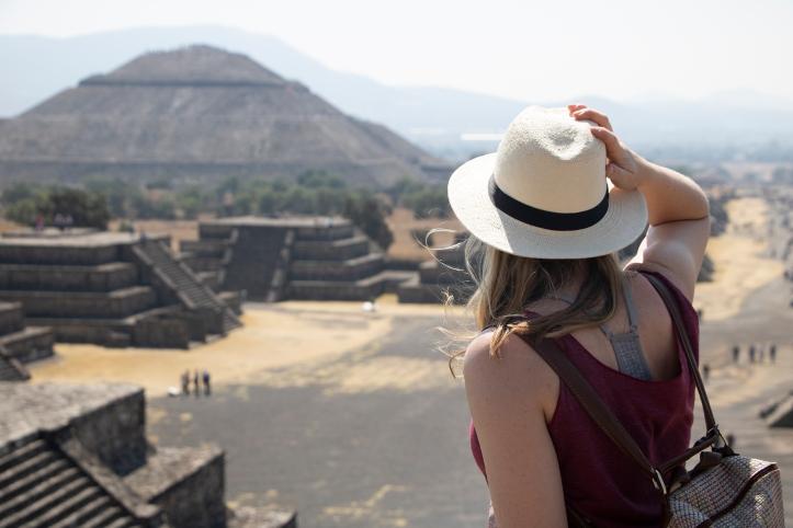 April posing at teotihuacan