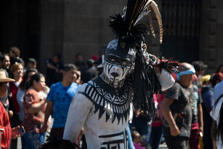 Aztec dancers at the historic centre