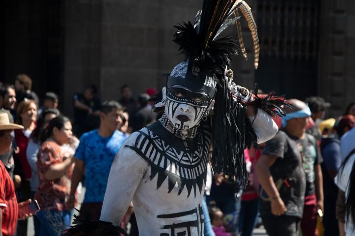 Aztec dancers at the historic centre